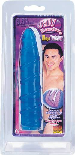 Jelly Benders 5.5' penis dong blue Midget Twister