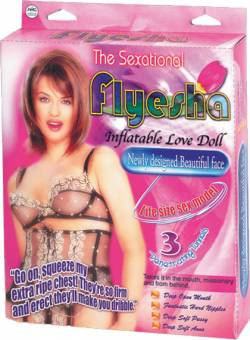 'Flyesha' PVC inflatable screening doll