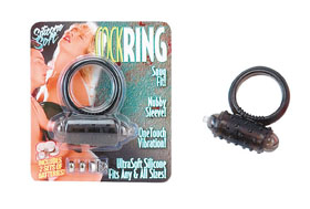 MINI VIBRATING COCKRING BLACK