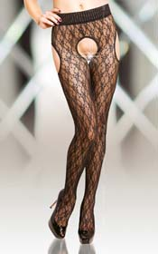 Crotchless Tights 5505, black/ 2