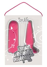 FUNKY VIBRATING BUTTPLUG PINK