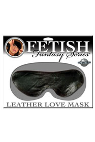 Leather Love Mask Black